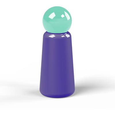 Wiederverwendbare Trinkflasche Skittle | 30 cl | Indigo & Deckel Hellgrün