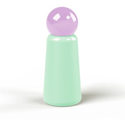 Wiederverwendbare Trinkflasche Skittle | 30 cl | Grün & Deckel Lila