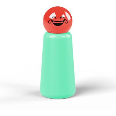 Wiederverwendbare Trinkflasche Skittle | 30 cl | Grün & Deckel Rot