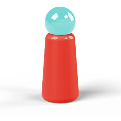 Wiederverwendbare Trinkflasche Skittle | 30 cl | Rot & Deckel Hellblau