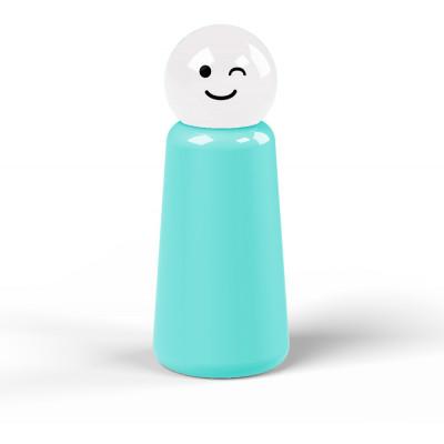 Wiederverwendbare Trinkflasche Skittle | 30 cl | Hellblau & Deckel Weiß