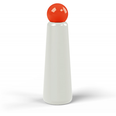 Wiederverwendbare Trinkflasche Skittle | 75 cl | Grau & Deckel Rot