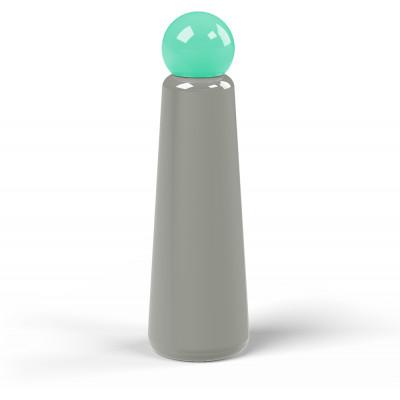 Wiederverwendbare Trinkflasche Skittle | 75 cl | Grau & Deckel Hellgrün