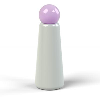 Wiederverwendbare Trinkflasche Skittle | 50 cl | Grau & Deckel Lila