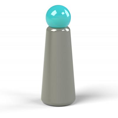 Wiederverwendbare Trinkflasche Skittle | 50 cl | Grau & Deckel Hellblau