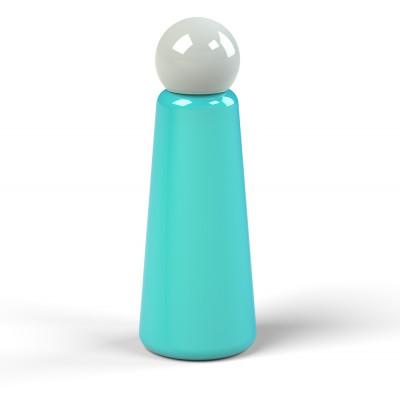 Wiederverwendbare Trinkflasche Skittle | 50 cl | Hellblau & Deckel Grau