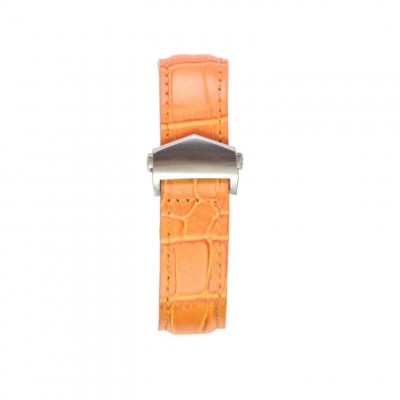 Alligator Embossed Apple Watch Strap | Tan & Silver