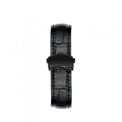 Alligator Embossed Apple Watch Strap | Black & Black