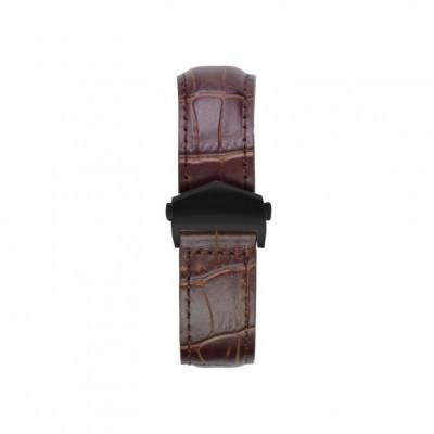Alligator Embossed Apple Watch Strap | Brown & Black