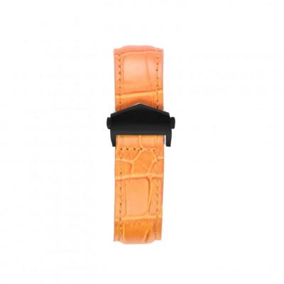 Alligator Embossed Apple Watch Strap | Tan & Black
