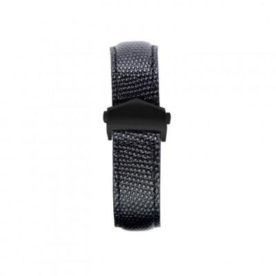 Lizzard Embossed Apple Watch Strap | Black & Black