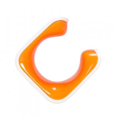 Hybrid Bike Clip   White & Orange