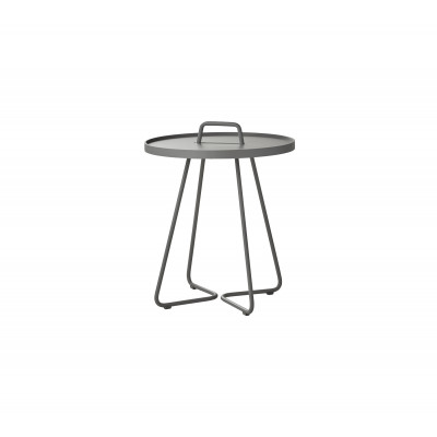 On-The-Move Side Table Small | Alu Light Grey