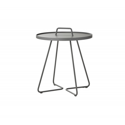 On-The-Move Side Table Large | Alu Light Grey