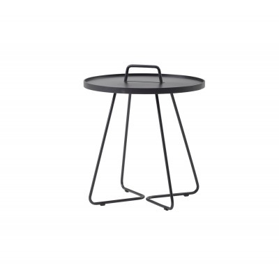 On-The-Move Side Table Large | Alu Black