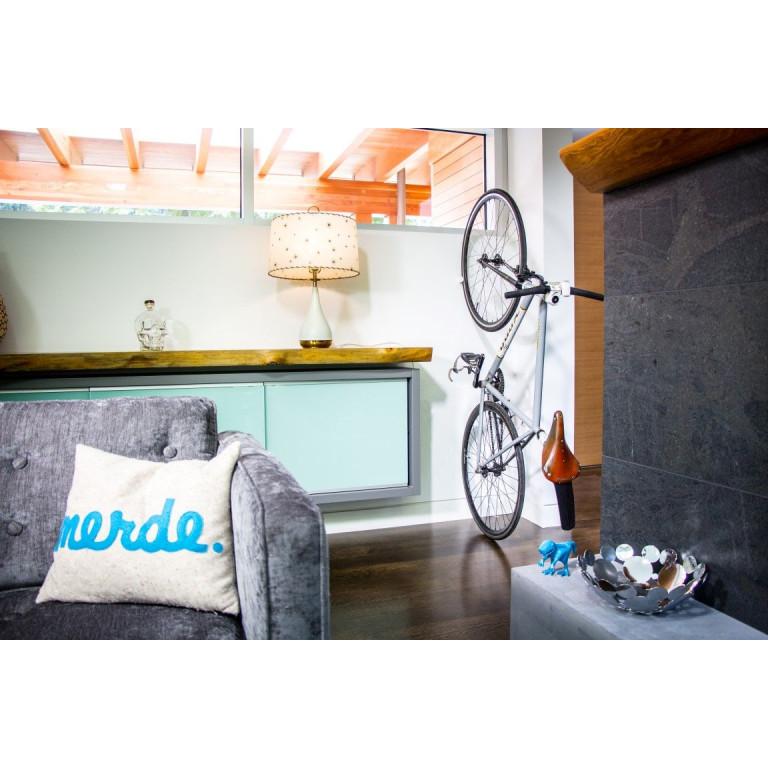 Wandmontierter Fahrradhalter CLUG Roadie   Weiß & Schwarz