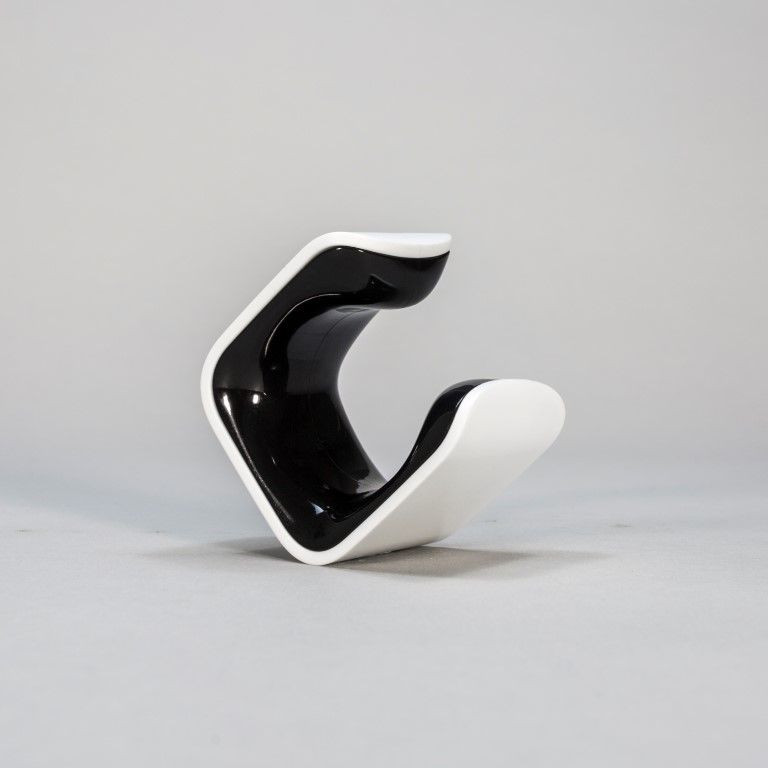 Wandmontierter Fahrradhalter CLUG Hybrid   Weiß & Schwarz