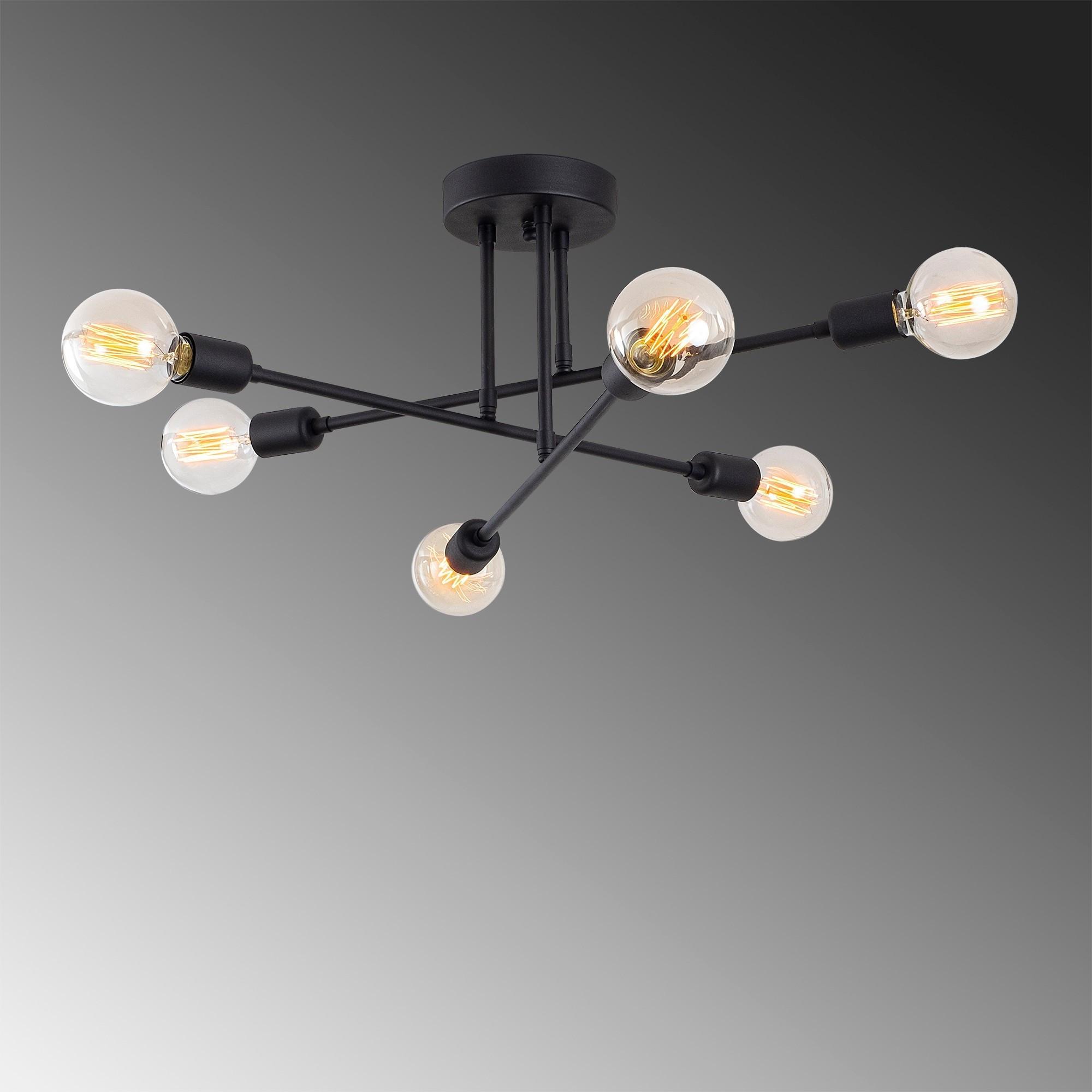 Deckenlampe Blume 174-AV   Schwarz