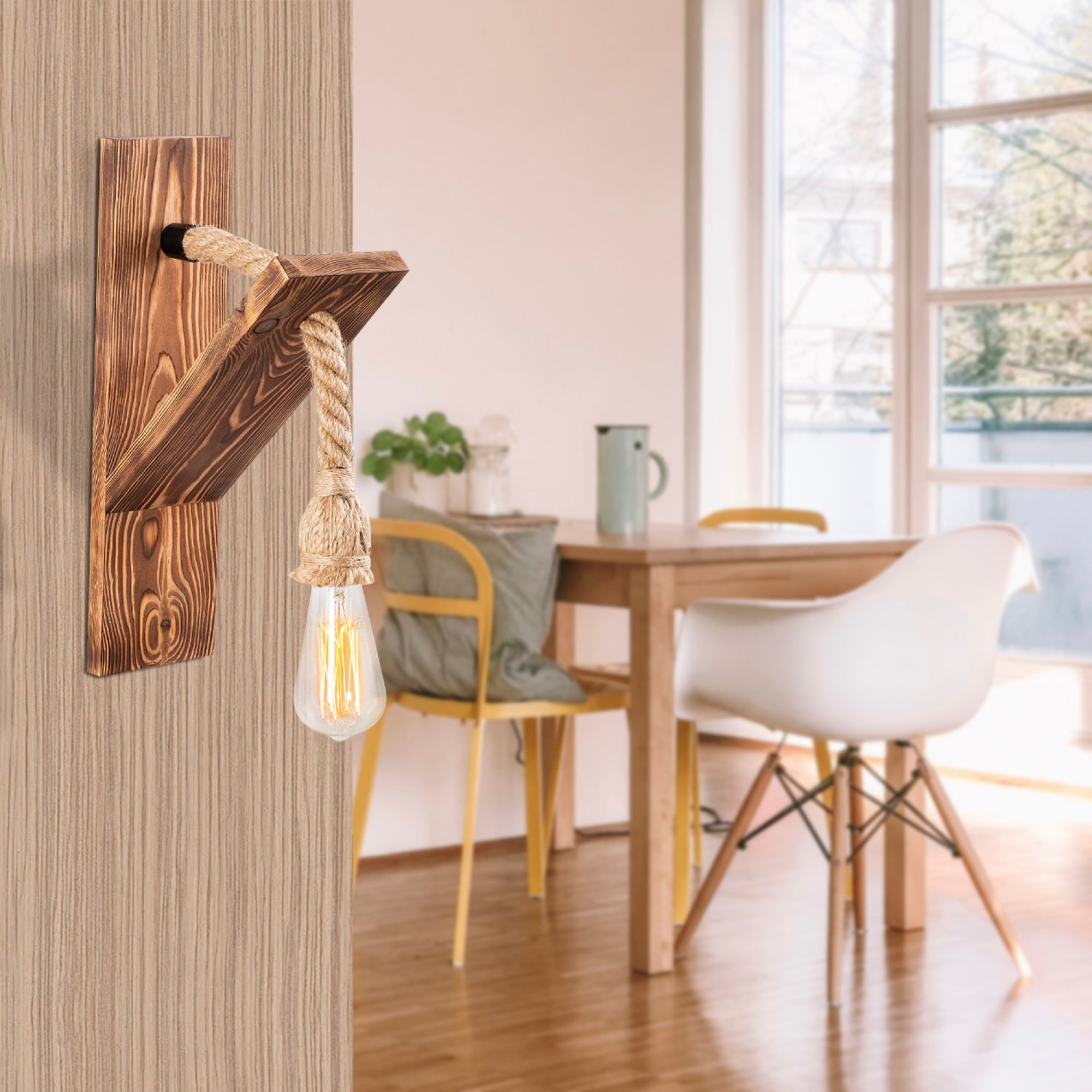 Wandleuchte Erebos | Holz