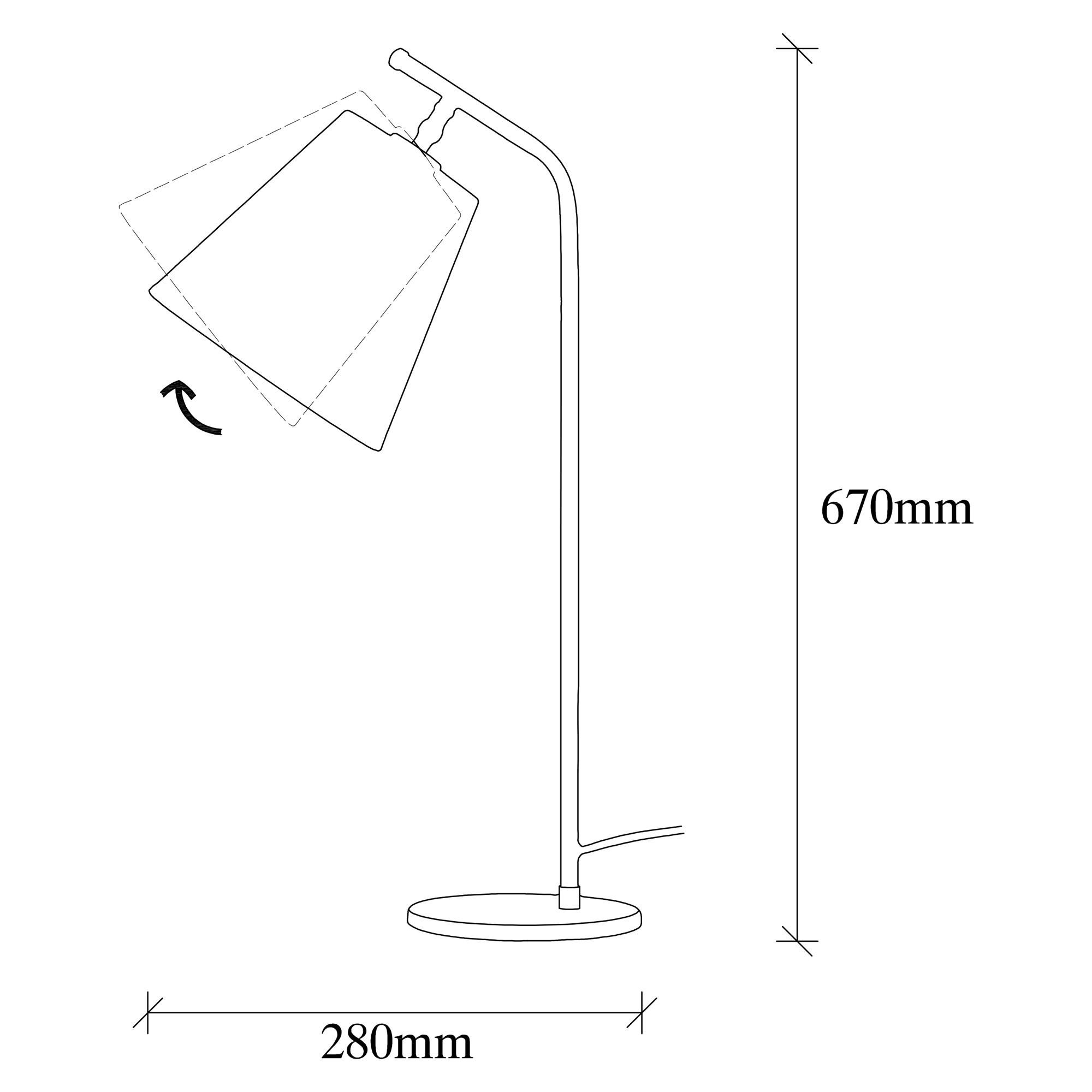 Table Lamp Salihini MR-621 | Vintage Black