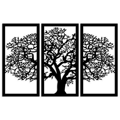 Dekoratives Wandzubehör aus Holz Agac 5 l Schwarz