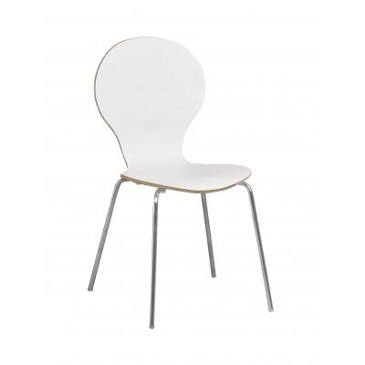 Stuhl Fusion   Weiß / Chrom