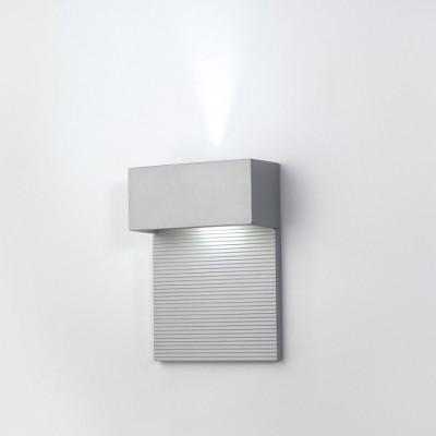 Wandleuchte 2 x 5 W Groß | Metallisch grau
