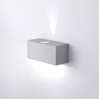 Wandleuchte 2 x 5 W | Metallisch grau