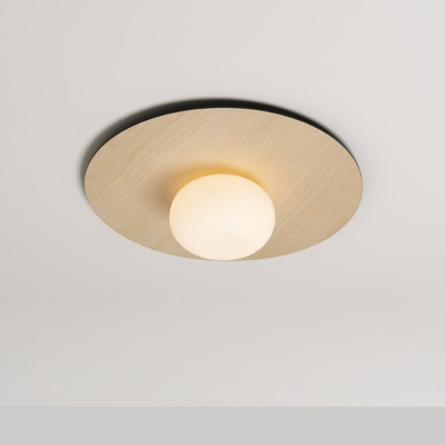 Wall and Ceiling Lamp Knock | Light Wood