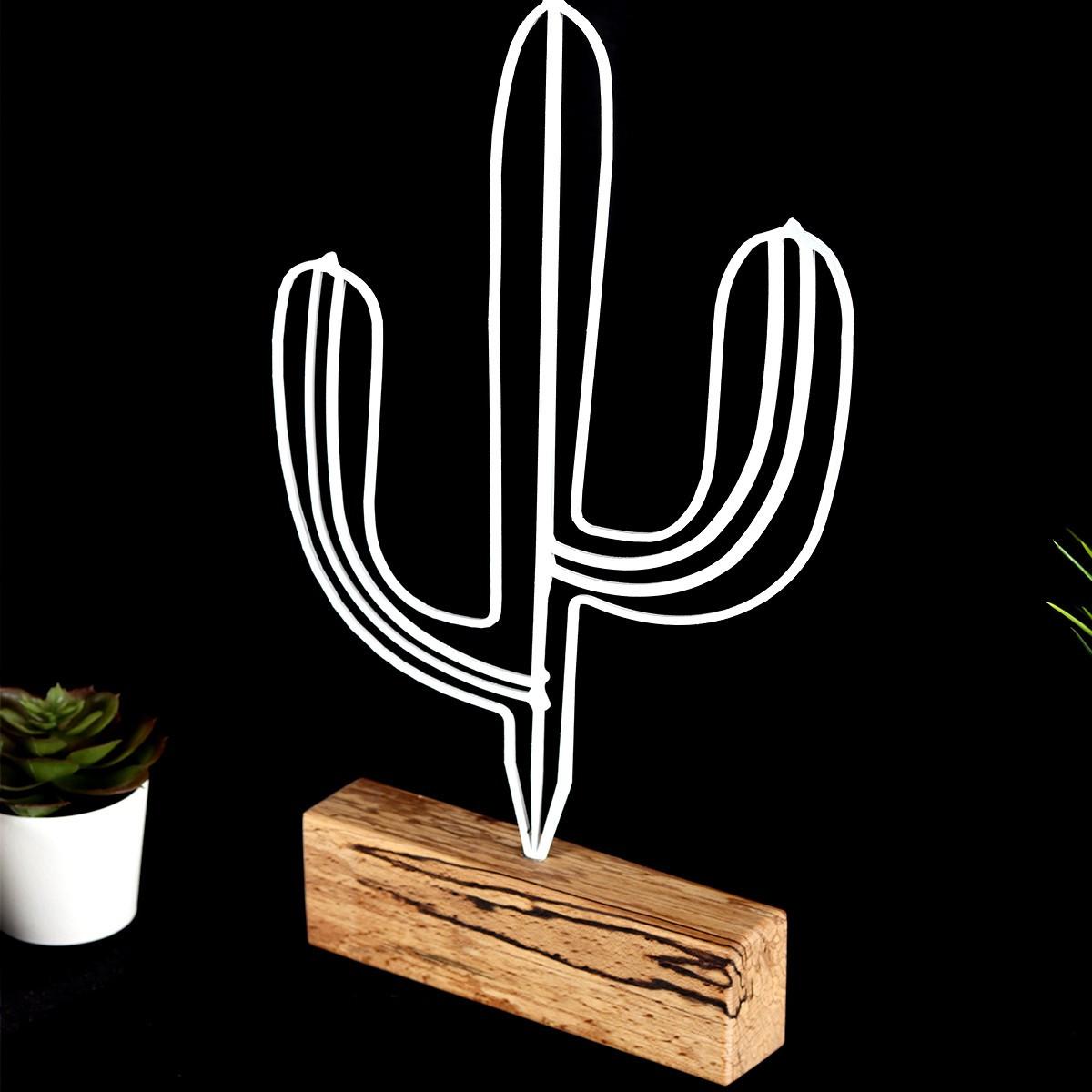 Decorative Object Cactus | White