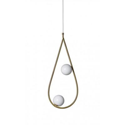 Perlen 65 Anhänger | Messing / Opalglas