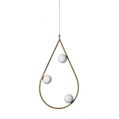 Anhänger Perlen 80 | Messing / Opalglas