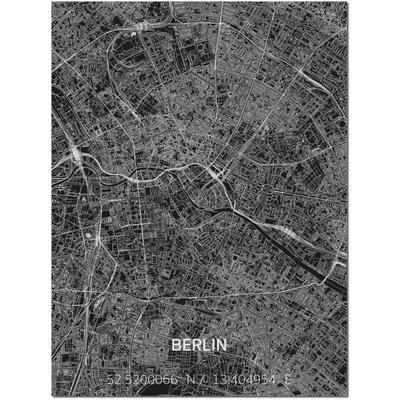 Metal Wall Decoration | City Map | Berlin-100 x 80 cm