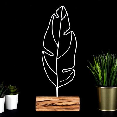 Dekoratives Objekt Blatt | Weiß