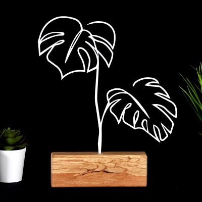 Dekoratives Objekt Blätter | Weiß