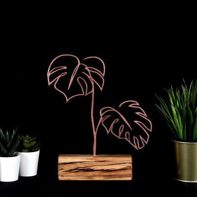 Dekoratives Objekt Blätter | Bronze