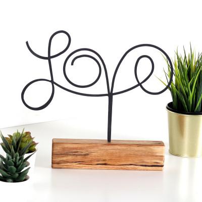 Dekoratives Objekt Love | Schwarz