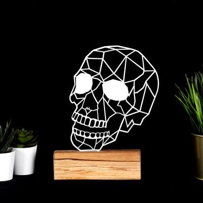 Dekoratives Objekt Schädel | Weiß