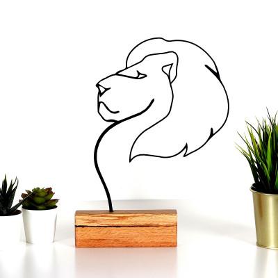 Dekoratives Objekt Löwe | Schwarz