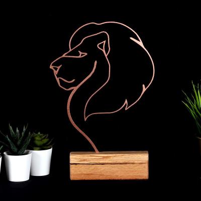 Dekoratives Objekt Löwe | Bronze