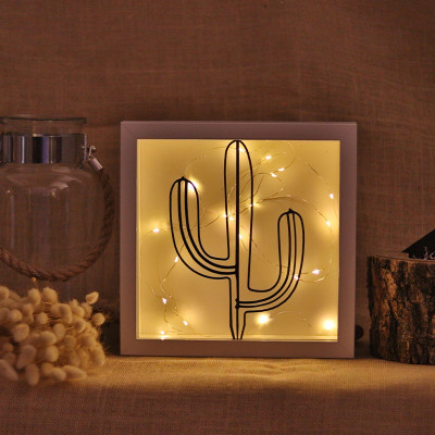 Dekoratives Objekt LED | Kaktus