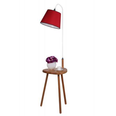 Stehleuchte 8273-1 | Rot & Weiß + Brauner Tisch