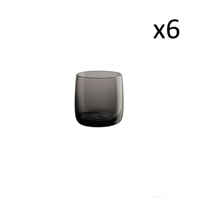 Glas 6er-Set | Grau