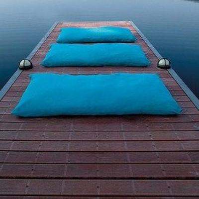 Marie-Fußbodenkissen Blau