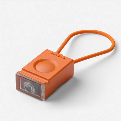 Rechargeable Front Bike Light Block I Orange
