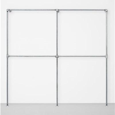 The Walk-In 2 Row Wardrobe System I Silver