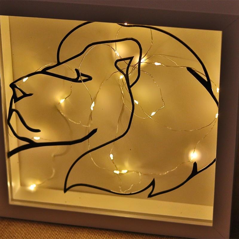 Dekoratives Objekt LED    Löwe
