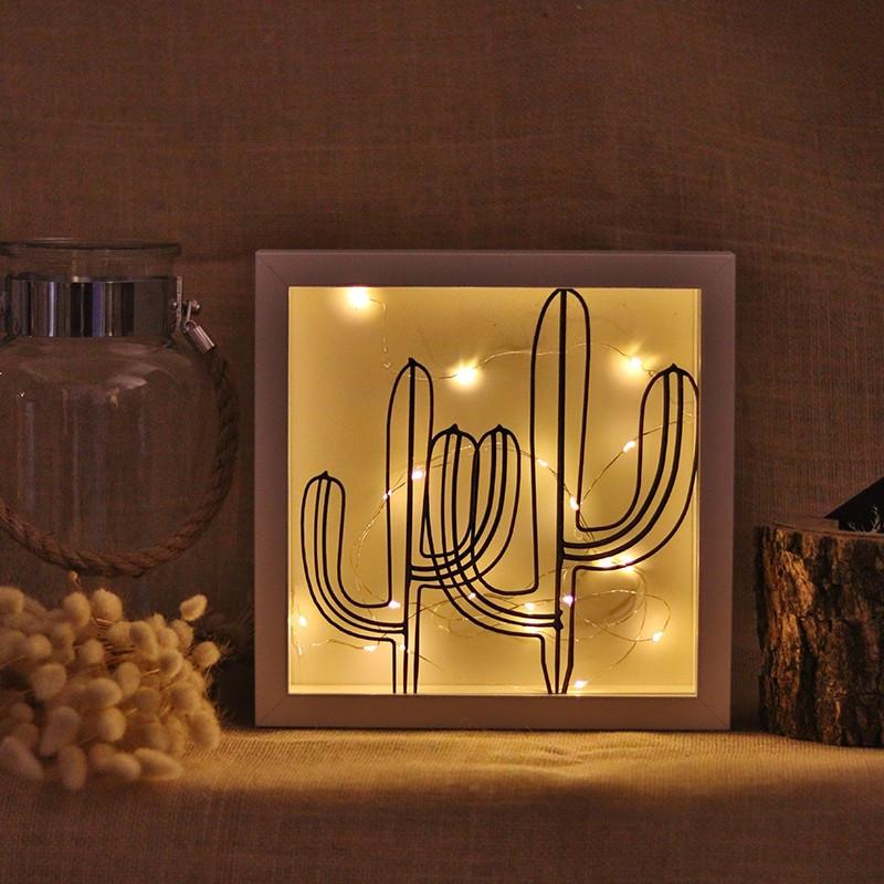Dekoratives Objekt LED | Kaktus Dobbelt