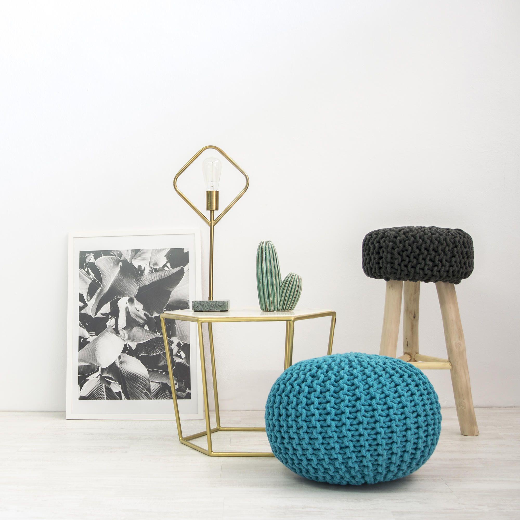 Ronde Poef | Turquoise
