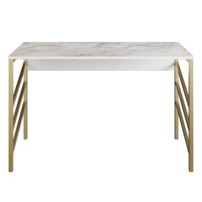 Schreibtisch Tuna  | Gold / Weiß